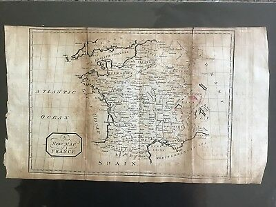 Map Of France, 1812, Antique, Original