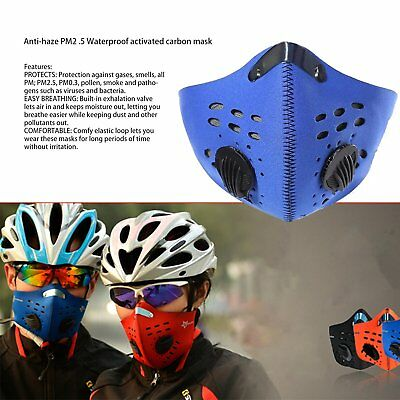 Neoprene Anti-pollution Face Mask Filter Outdoor Motorcycle Bicycle Cycling IB