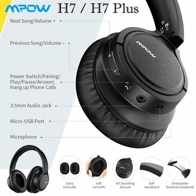 Mpow Foldable Wireless/Wired Headset On Ear Driver Bluetooth Headphone