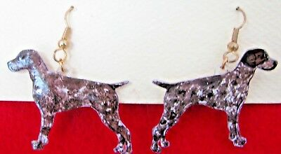 German Shorthair Pointer Earrings Wires NEW on card Lightweight