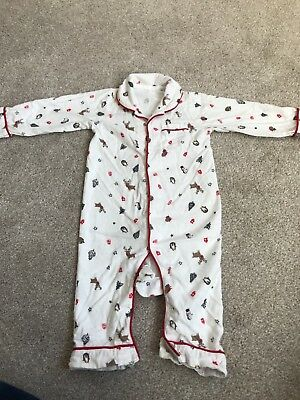 All In One Christmas Pyjamas 9–12 Months