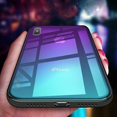 For iPhone Models Tempered GLASS BACK New Shockproof Hybrid Case Cover