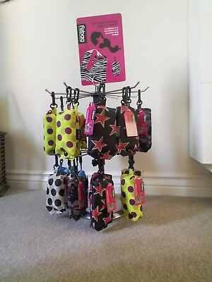Joblot Of 22  'Fizbag' Foldaway Fabric Shopping Bags and display stand.