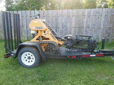 Boxer Trencher Walk Behind Ride On Rubber Tracks With Trailer  Model 118
