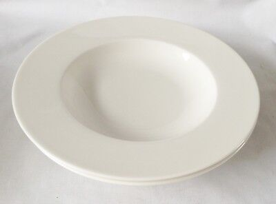 Villeroy and Boch Twist White Rimmed Bowls x 2 - 9 1/2 Inch NEW UNUSED