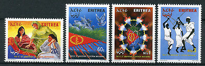 Eritrea 2001 MNH Independence 10th Anniv 4v Set Dance Cultures Traditions Stamps