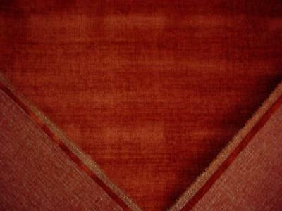 3 Yds,Crushed Chenille Designer Upholstery Fabric in Tomato Red