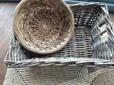 Vintage Retro Straw Wicker Oval Table Place Mats set of 5 bloggers trend