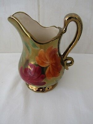 OLDCOURT WARE (J.Fryer ) – Handpainted Lustre JUG, 1 pint, unused, Stoke c.1960