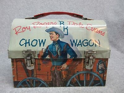 1955 RoY RoGERS & DaLE EvANS CHOW WAGON DoME LUNCHBOX C#8+ Very Clean