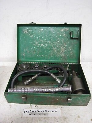 """GREENLEE HYDRAULIC KNOCKOUT PUNCH 7306 AND DIE SET 1"""" to 2"""""""