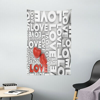 Love Tapestry Valentines Romance Art Print Wall Hanging Decor