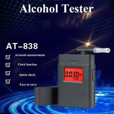 AT-838  LCD Police Breathalyzer Breath Test Alcohol Tester Analyzer Detector UK