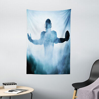 Blue Tapestry American Football Hero Print Wall Hanging Decor