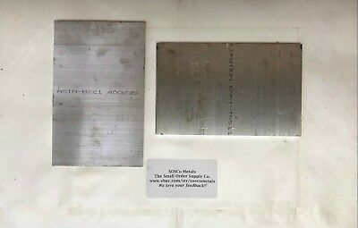 "2 Pieces 1/4"" X 5"" ALUMINUM 6061 T6511 Plate FLAT BAR 8"" long"