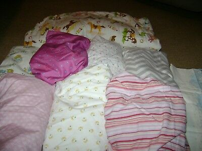 Baby Nursery Lot...Crib Sheets/Vintage Pillowcase/Carry Bag...Lot 1