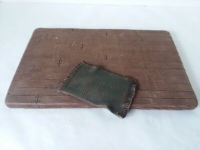 """Sarah's Attic Floor  Brown Base with Green Rug 1994 RARE 11"""" x 7"""" Faux Wood"""