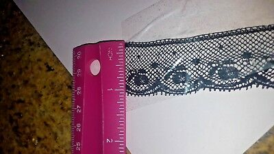 "Vintage Black French Lace Trim 1"" wide - Full Roll 140 Yards"