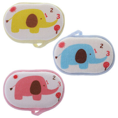 Baby Towel Sponge Shower Rub Brush Cartoon Soft Breathable Bathroom Accesories