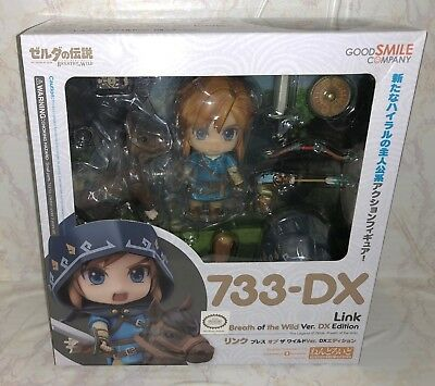 GoodSmile Nendoroid 733-DX Link Breath of The Wild Version Deluxe Edition - NEW!
