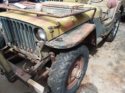 willys jeep WW2 1943 Ford GPW jeep classic car military vehicle barn find