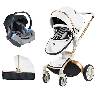 NEW Baby Stroller 3 in 1 high view travel Bassinet proable Pushchair&car seat