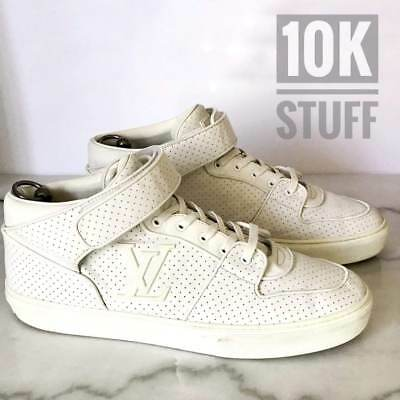 80a0efbb0d9 LOUIS VUITTON WHITE Sneakers Authentic Shoes size 10.5 or 11.5 US High Top