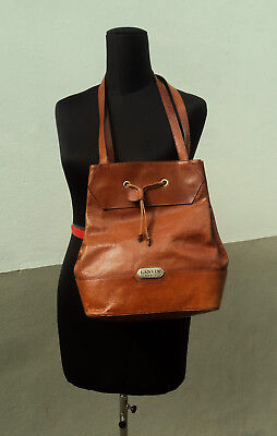 Borsa a sacca in pelle Lanvin Paris Made in Italy 050 vintage leather bag