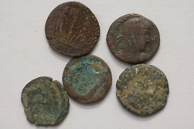 Ancient Roman Imperial 5 Old Coins Lot A98 Mxp33