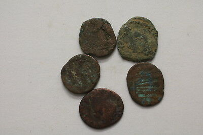 Ancient Roman Imperial 5 Old Coins Lot A98 Mxp35