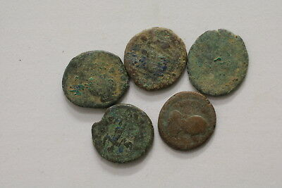 Ancient Roman Imperial 5 Old Coins Lot A98 Mxp34