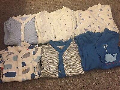 Marks And Spencer M&S Baby Boy Sleepsuits 12-18 Months Bundle Of 6