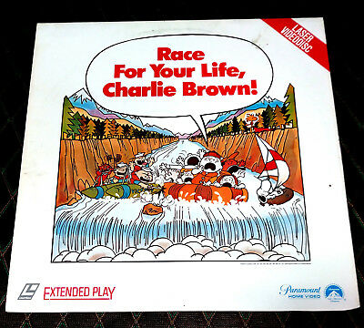 Laserdisc RACE FOR YOUR LIFE CHARLIE BROWN (1977) 76 Minutes