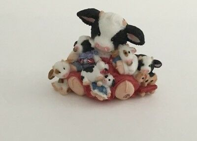 Mary's Moo Moos Friends Are the Best Cowlectibles Cow Figurine 1997