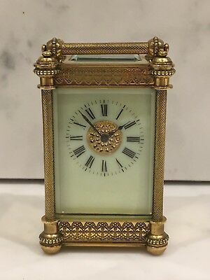 Superb Little Ornate Carriage Clock