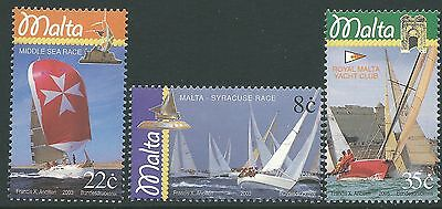 Malta 2003 - Sailboats Race Sports Ships Boat Yacht Club - Sc 1136/8 MNH