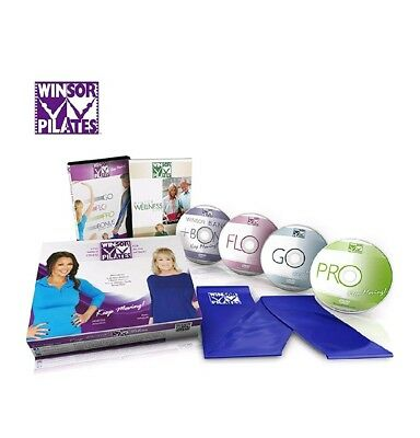 4 Winsor Pilates Power Sculpting With Resistance Band Dvd Advanced Abs And More!