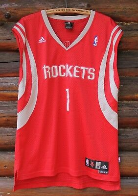 5732f903e Tracy McGrady  1 Houston Rockets NBA Red TMAC Sewn Adidas Jersey Adult Size  M +