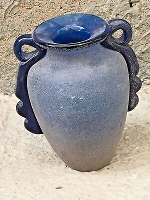 Antique Rare Handmade Ancient Blue Glass Beautiful Vase