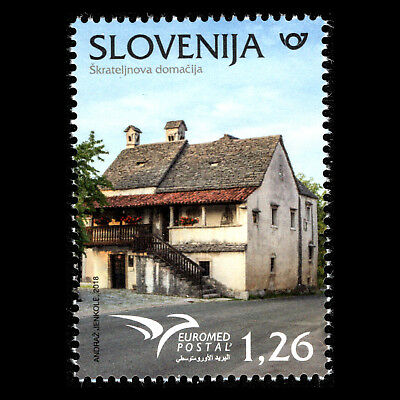 """Slovenia 2018 - EUROMED Issue """"Houses of the Mediterranean"""" Architecture - MNH"""