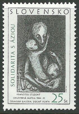 Slovakia 2005 - Poor Mother by Frantisek Studeny Painting Fine Art - Sc 477 MNH