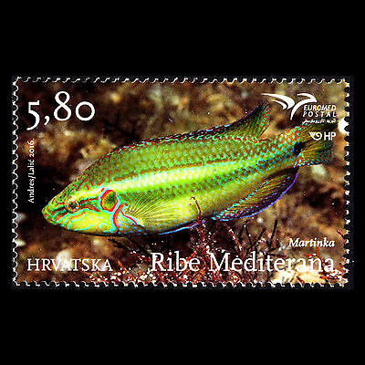 """Croatia 2016 - EUROMED Issue """"Fishes of the Mediterranean Sea"""" - MNH"""