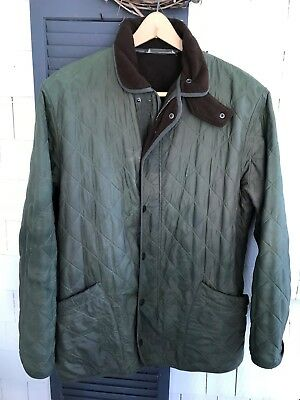 BARBOUR Men's Olive Quilted Jacket Size Large
