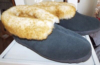 Men's Shearling Sheepskin Slippers Moccasins Size 9 NWOB