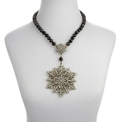 """Heidi Daus """"Ice Crystal"""" Snowflake Drop Necklace RET $199 Perfect for Christmas!"""