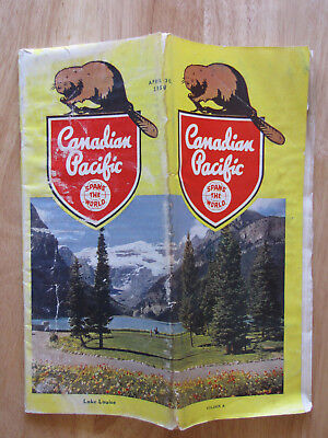 CP CANADIAN PACIFIC Public Timetable:  4/30/50 System Form A