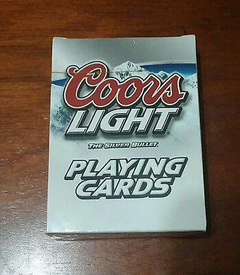 NEW Sealed 1999 Coors Light Playing Cards Deck The Silver Bullet