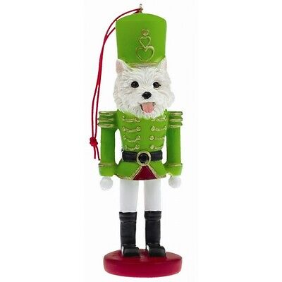 West Highland Terrier Westie Dog Toy Soldier Nutcracker Christmas Ornament