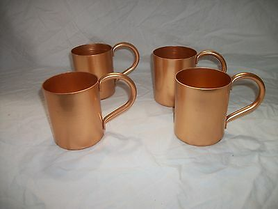 Mule Mugs Annodized Aluminum-Copper Color Lot Of 4 - New In Box