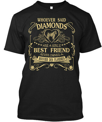 Bouvier Des Flandres Diamonds Are A Girl - Whoever Hanes Tagless Tee T-Shirt